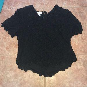 Black Beaded Shirt